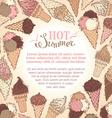 Summer ice-cream background vector image