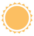 sun icon on white background flat style sun icon vector image vector image