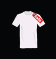 t-shirt on sale color vector image