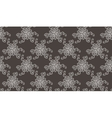 Tender Elegant White Flower pattern on dark grey vector image vector image