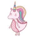 unicorn fantasy cartoon vector image vector image