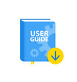 user guide book download icon flat vector image
