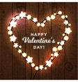 Valentine s day background with bright lights vector image vector image