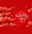 valentines day background with red hearts around vector image vector image