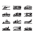 Vehicles for accidents and emergencies vector image vector image