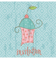 vintage invitation card vector image vector image