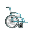 Wheelchair on white background Means of vector image vector image