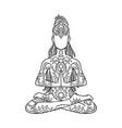 yoga man with dreadlock ornament beautiful vector image vector image