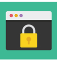 Browser and Lock Icon Dark Background vector image