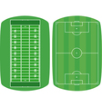 set sport fields vector image