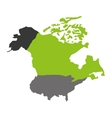 north american map isolated icon vector image