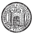 a seal representing the city of bridport england vector image vector image
