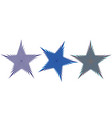 a set of five-pointed stars vector image vector image