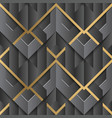 abstract geometric decor stripes art deco black vector image vector image