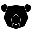 abstract low poly koala icon vector image