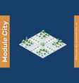 area landscape gardens vector image vector image