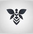 bee logo icon vector image