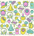 biohacking concept seamless pattern in colored vector image