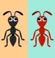 Black and red ants vector image vector image