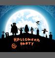 blue backgroundfestival halloween vector image vector image
