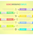 bright infographic template suitable for vector image vector image
