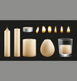candles kit design realistic wax base of vector image vector image