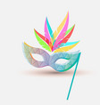 carnival mask with a pattern of mosaic bright vector image vector image