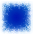 Christmas background with frame of snowflake vector image vector image