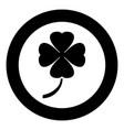clover icon black color simple image vector image vector image