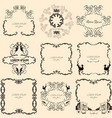Collection beautiful hand drawn vintage frames