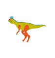 colorful tsintaosaurus dinosaur cute prehistoric vector image vector image