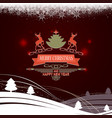 composition from a set of christmas snowflakes vector image