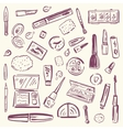 Cosmetics Makeup set vector image