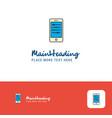 creative mobile setting logo design flat color vector image