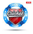 cricket sport label sign vector image vector image