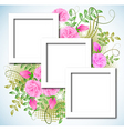 design photo frames with roses vector image vector image