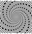 Design spiral striped backdrop vector image vector image