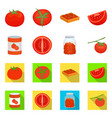 design vegetable and delicious sign vector image vector image