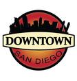 Downtown San Diego emblem vector image