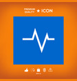 ecg wave - cardiogram symbol medical icon vector image