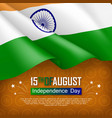 festive of independence day in india vector image vector image