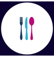 fork spoon knife computer symbol vector image vector image