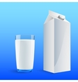 four glasses of milk vector image vector image