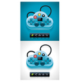 Gamers cloud computing xxl icon vector | Price: 1 Credit (USD $1)