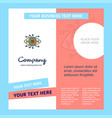 gear eye company brochure template busienss vector image vector image