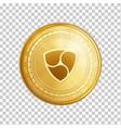 golden ethereum blockchain coin symbol vector image