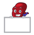 grinning with board spleen character cartoon style vector image vector image