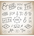 hand lettered ampersands and catchwords vector image
