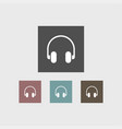 headphone icon simple vector image vector image