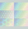 holographic texture set gradient hologram vector image